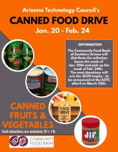 Help Tucson battle hunger by taking place in our Annual Canned Food Drive Competition